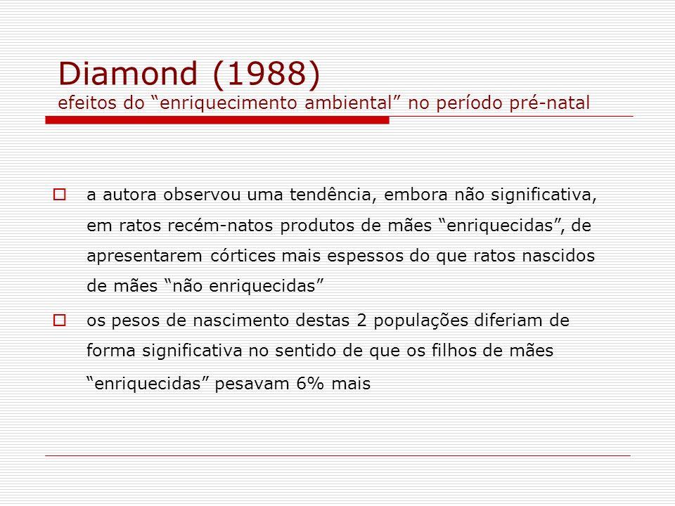 Diamond (1988) efeitos do enriquecimento ambiental no período pré-natal