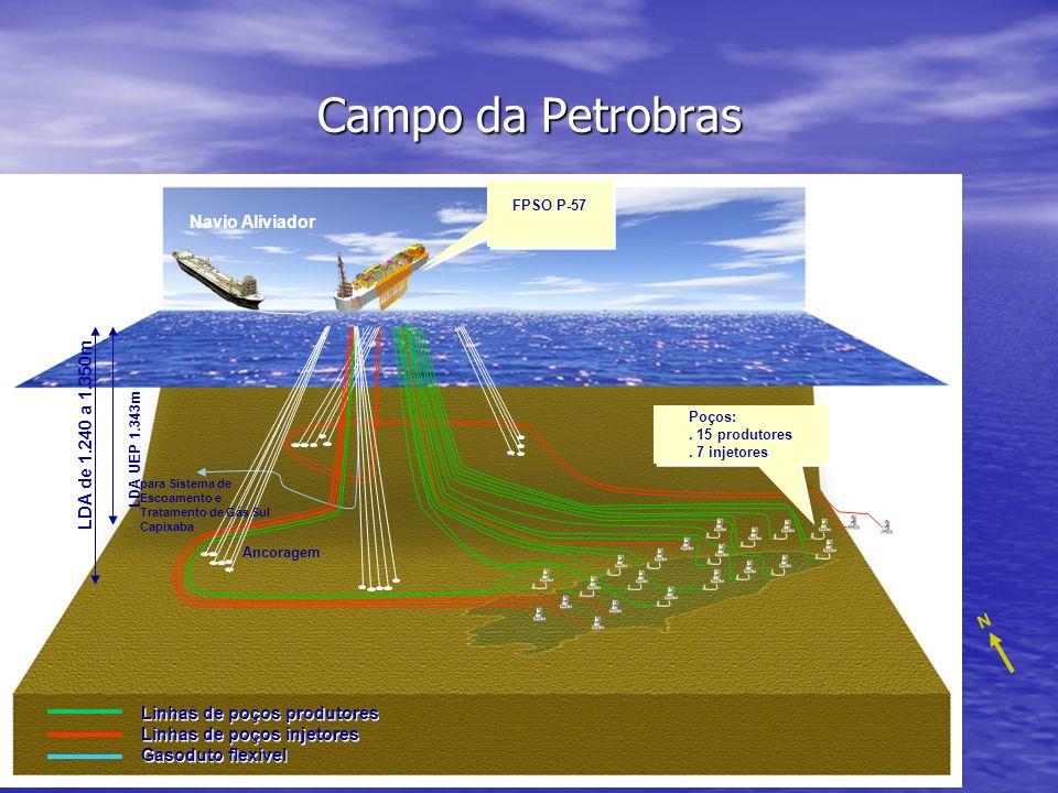 Campo da Petrobras Navio Aliviador LDA de 1.240 a 1.350m N