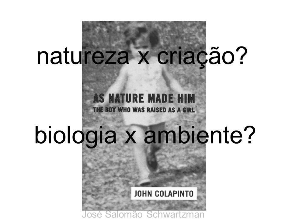natureza x criação biologia x ambiente José Salomão Schwartzman
