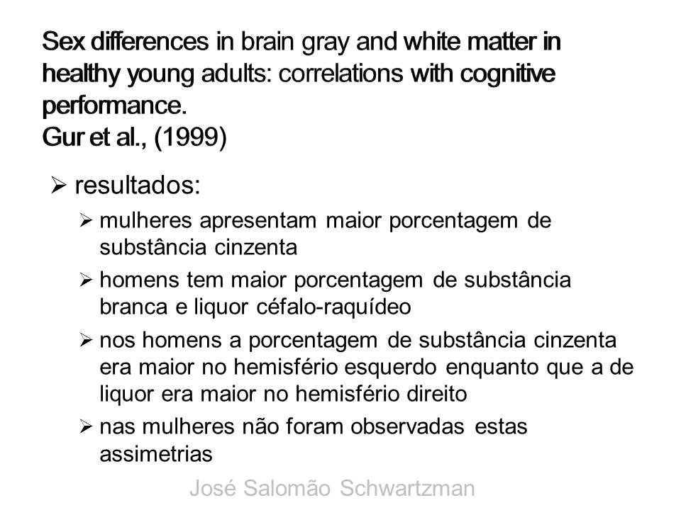 Sex differences in brain gray and white matter in healthy young adults: correlations with cognitive performance.