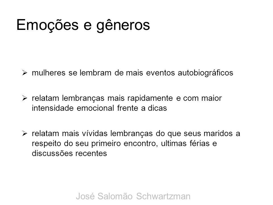 Emoções e gêneros José Salomão Schwartzman
