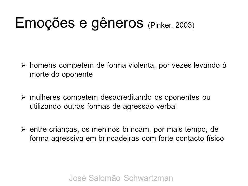 Emoções e gêneros (Pinker, 2003)