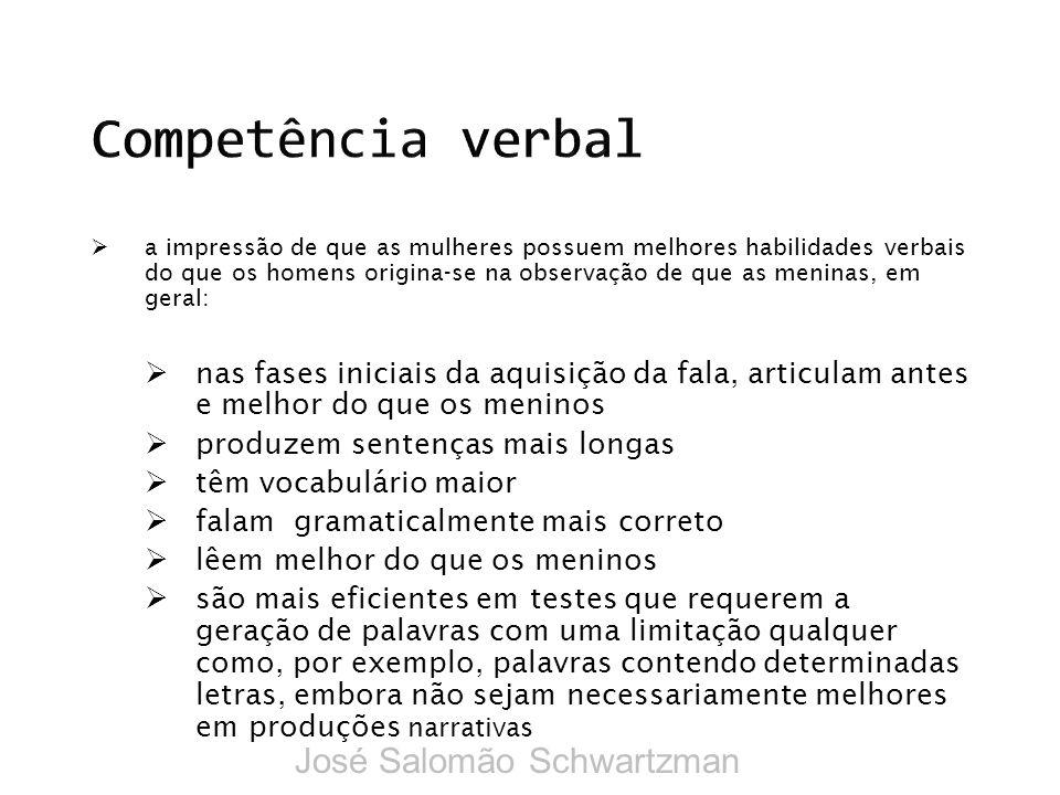 Competência verbal José Salomão Schwartzman