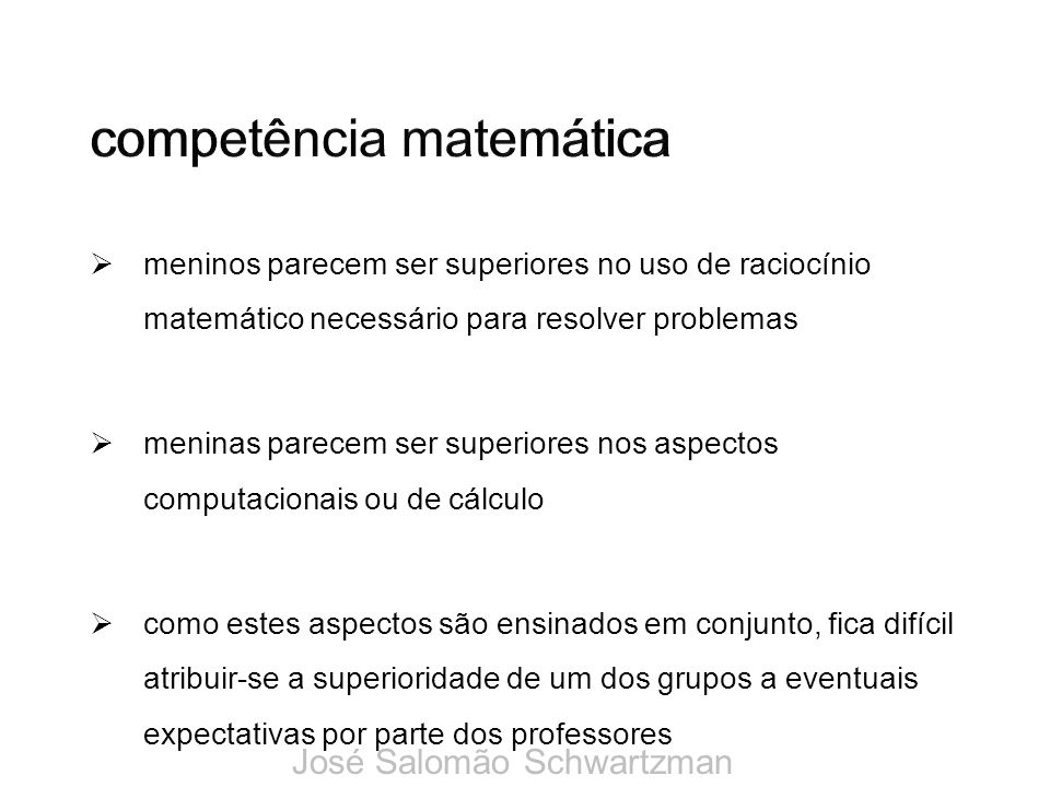 competência matemática