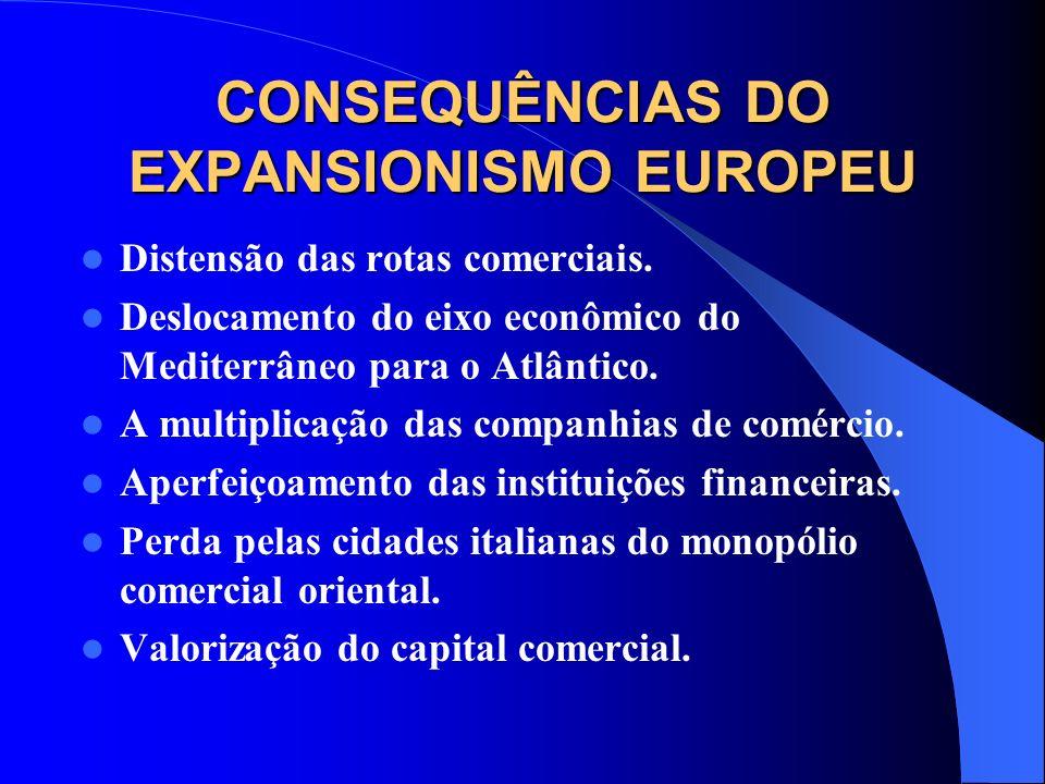 CONSEQUÊNCIAS DO EXPANSIONISMO EUROPEU