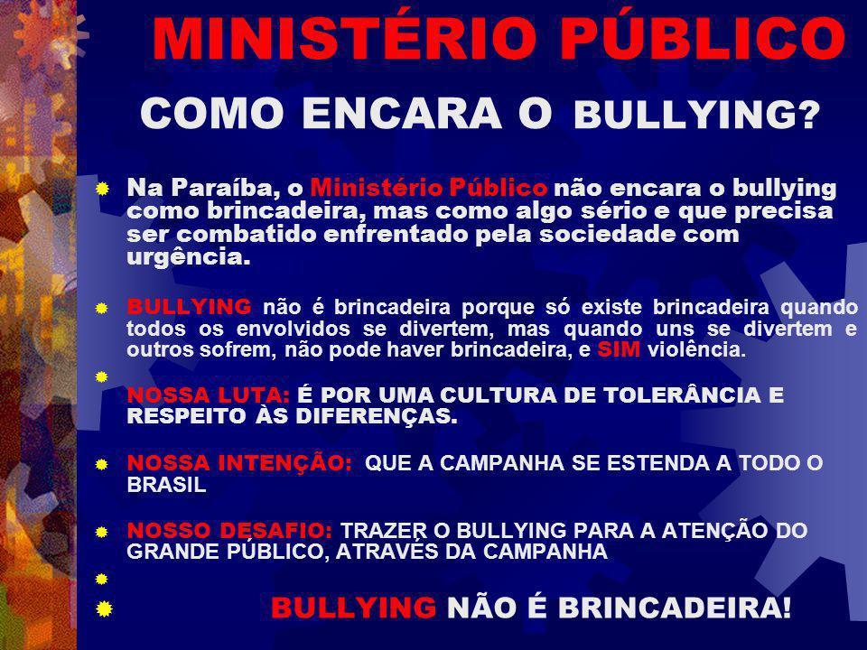 MINISTÉRIO PÚBLICO COMO ENCARA O BULLYING