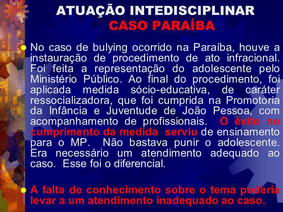 ATUAÇÃO INTEDISCIPLINAR CASO PARAÍBA