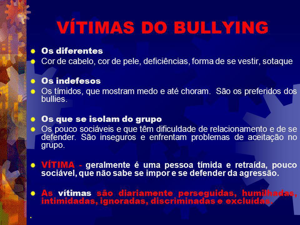 VÍTIMAS DO BULLYING Os diferentes