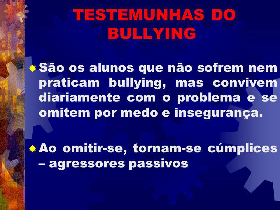 TESTEMUNHAS DO BULLYING