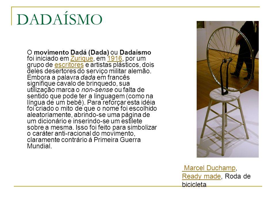 DADAÍSMO Marcel Duchamp, Ready made, Roda de bicicleta