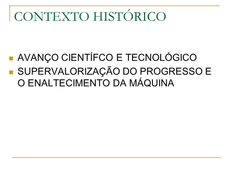 CONTEXTO HISTÓRICO AVANÇO CIENTÍFCO E TECNOLÓGICO