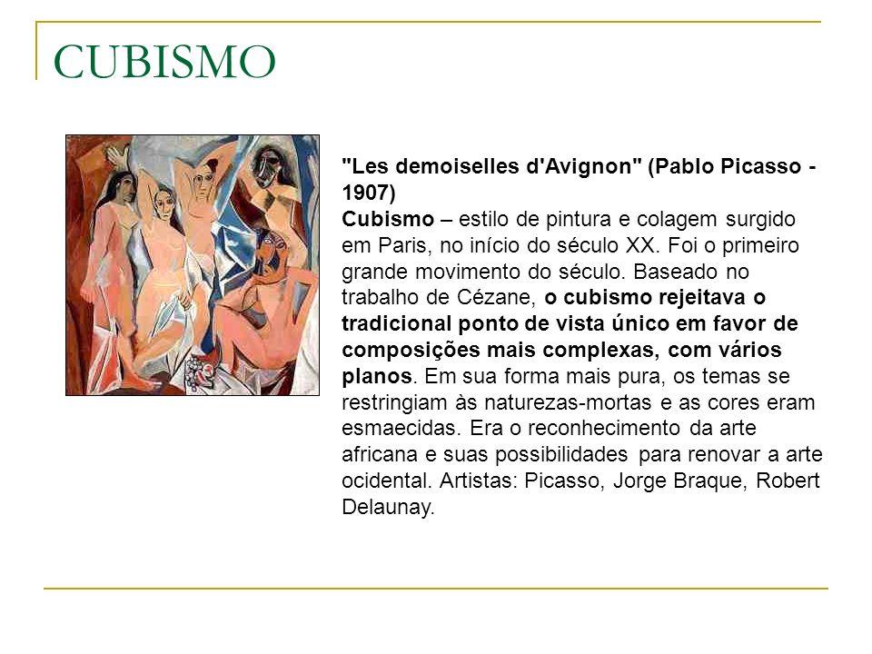 CUBISMO Les demoiselles d Avignon (Pablo Picasso - 1907)