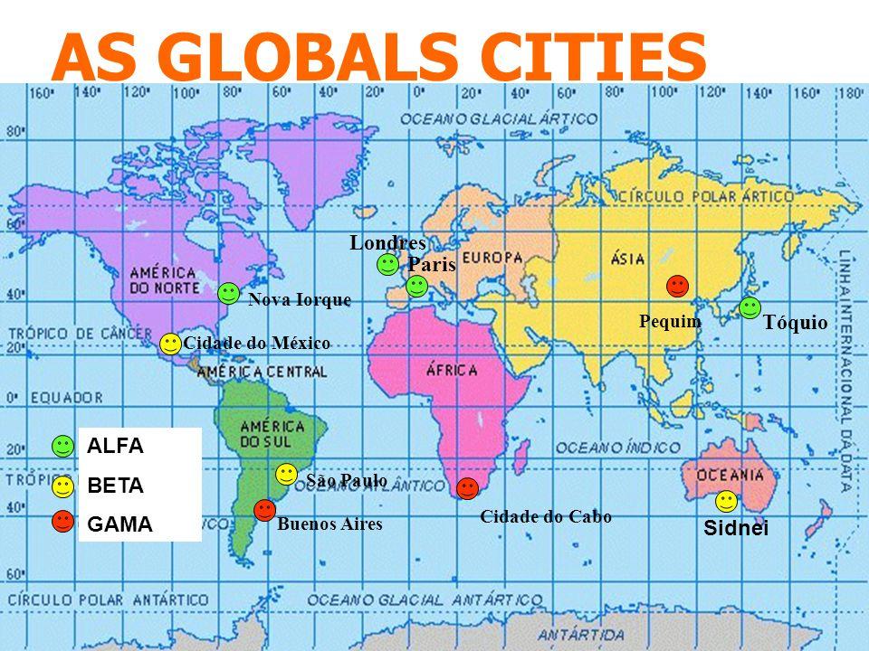 AS GLOBALS CITIES Londres Paris Tóquio ALFA BETA GAMA Sidnei