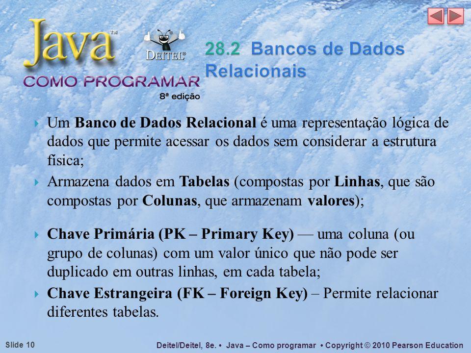28.2 Bancos de Dados Relacionais