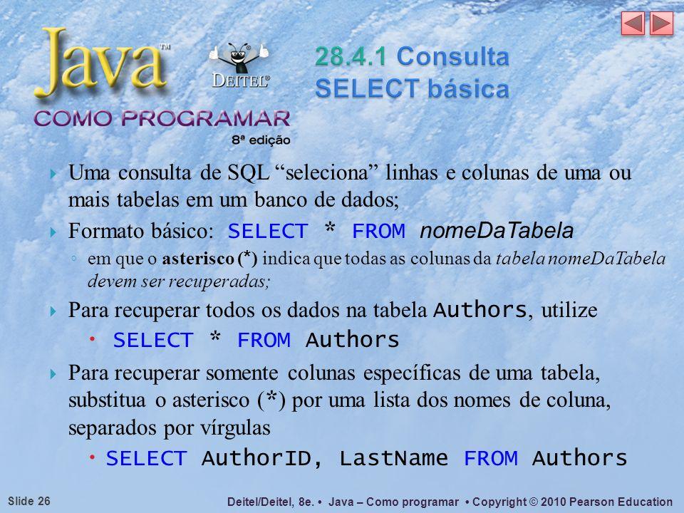 28.4.1 Consulta SELECT básica