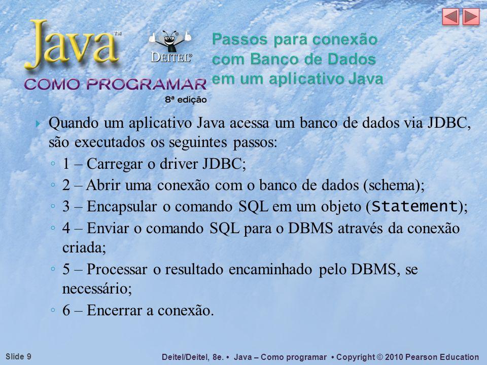 Passos para conexão com Banco de Dados em um aplicativo Java