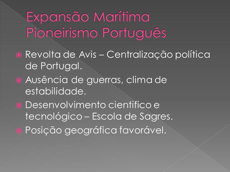 Expansão Marítima Pioneirismo Português