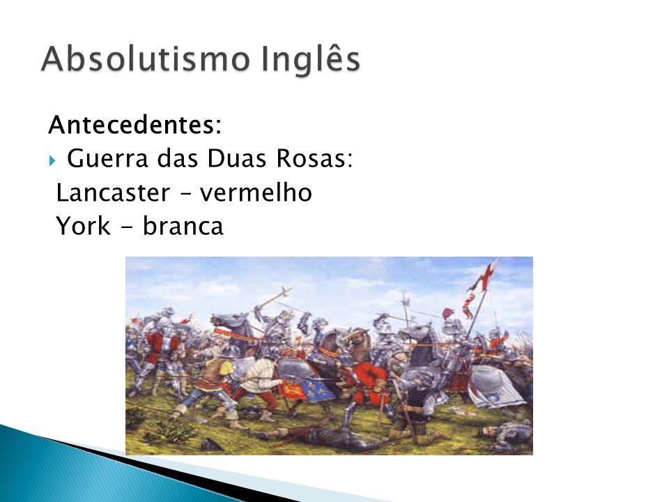 Absolutismo Inglês Antecedentes: Guerra das Duas Rosas: