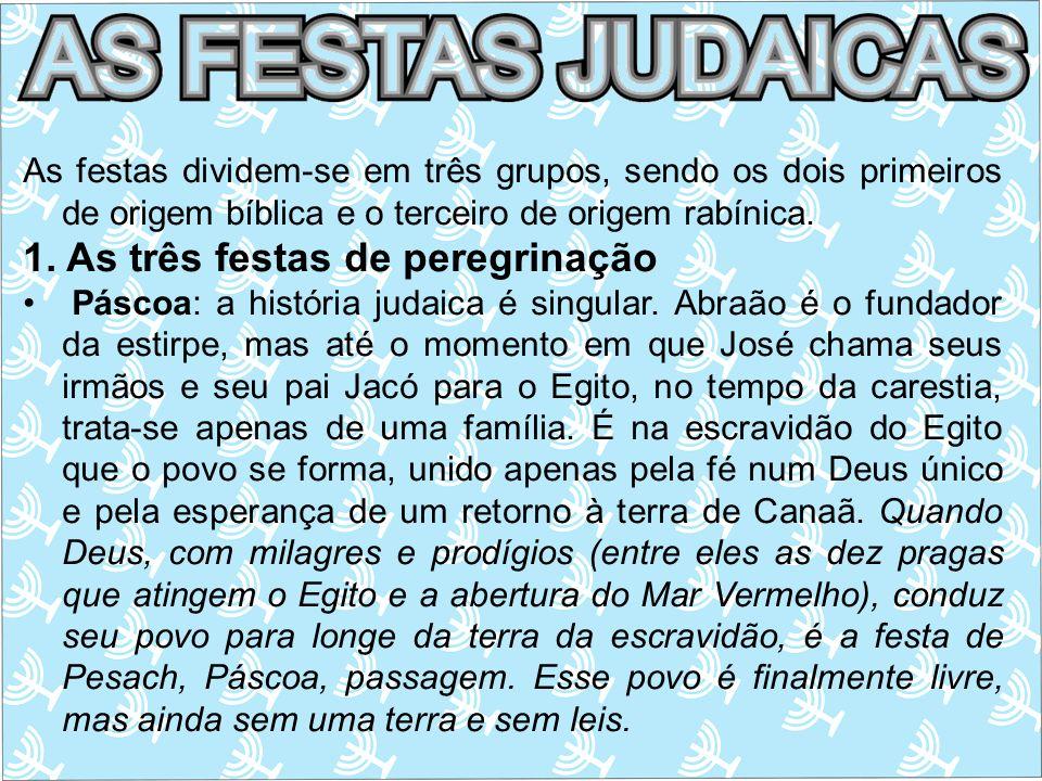 1. As três festas de peregrinação