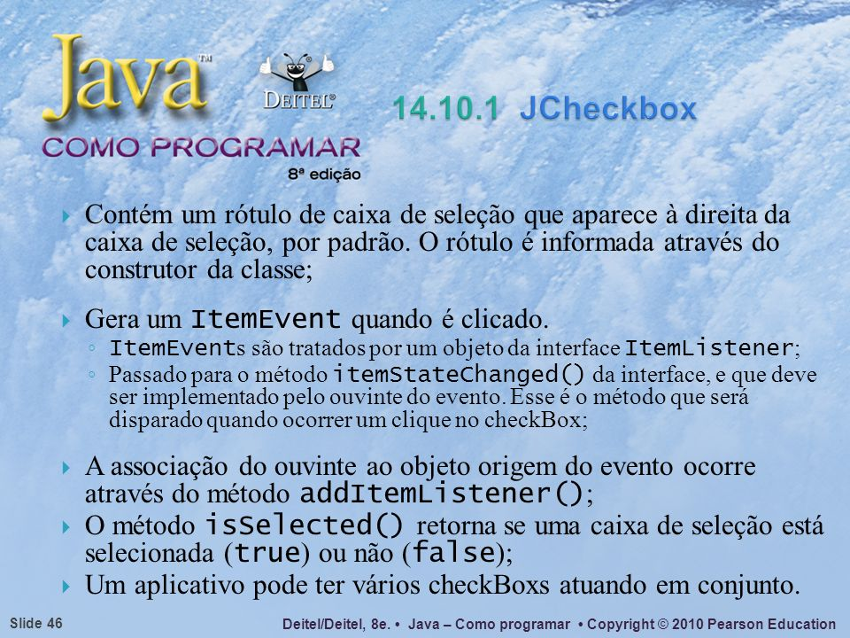 14.10.1 JCheckbox