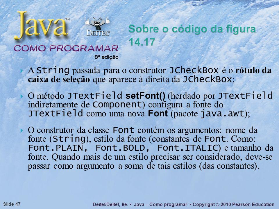 Sobre o código da figura 14.17