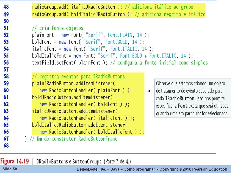 Reparar que o handler de evento no trecho destacado no código acima para tratamento de evento está sendo instanciado sem que haja uma variável que a referencie (é passado para o método diretamente).
