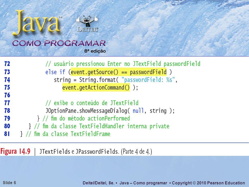 O método event.getActionCommand() acima poderia ser substituído por new String(passwordfield.getPassword()) com o mesmo efeito.