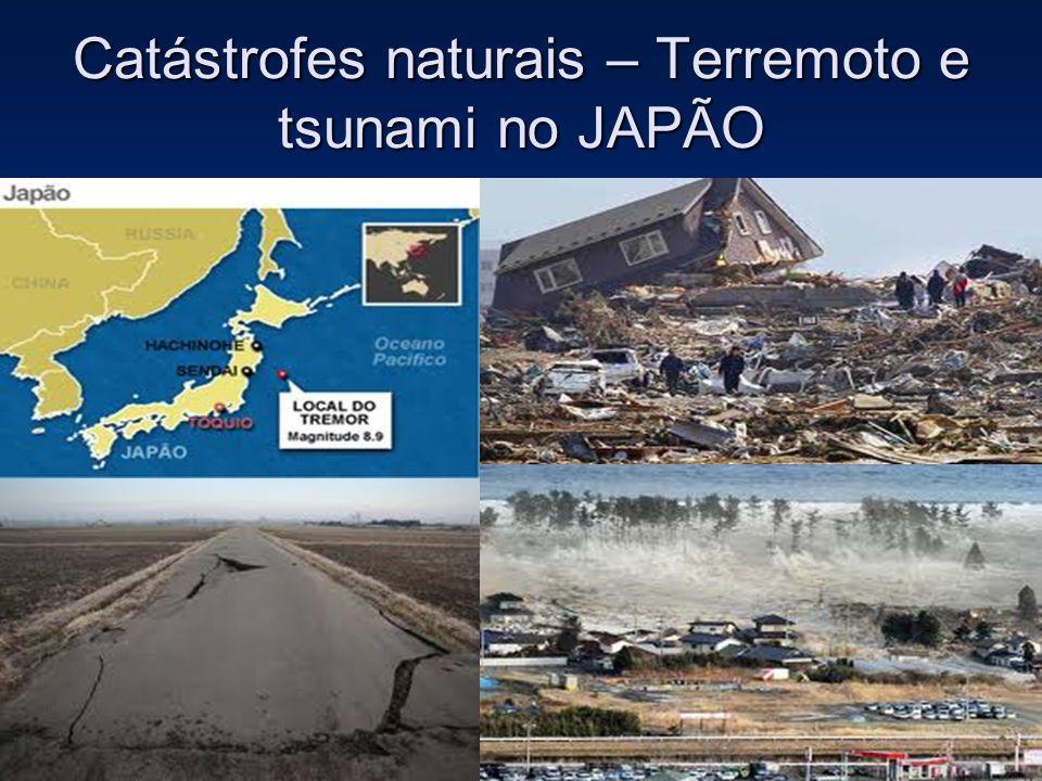 Catástrofes naturais – Terremoto e tsunami no JAPÃO