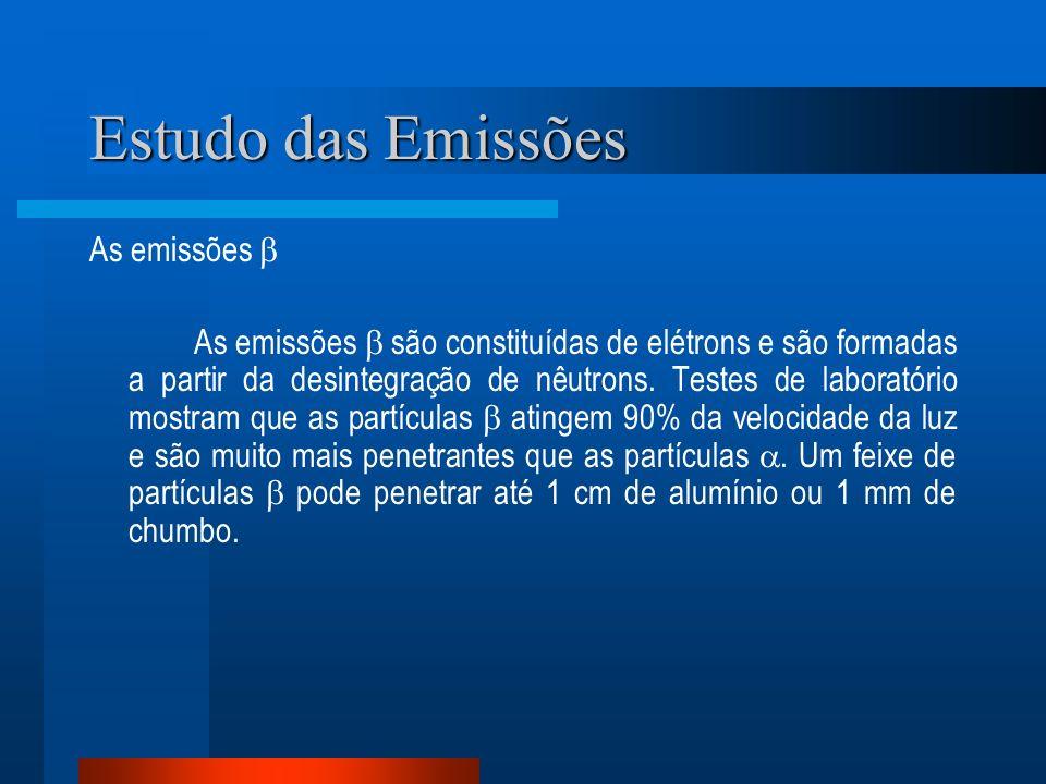 Estudo das Emissões As emissões 