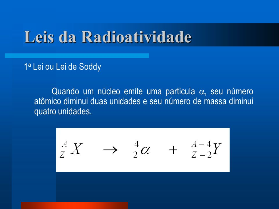 Leis da Radioatividade
