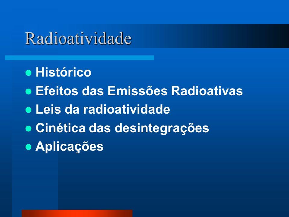 Radioatividade Histórico Efeitos das Emissões Radioativas