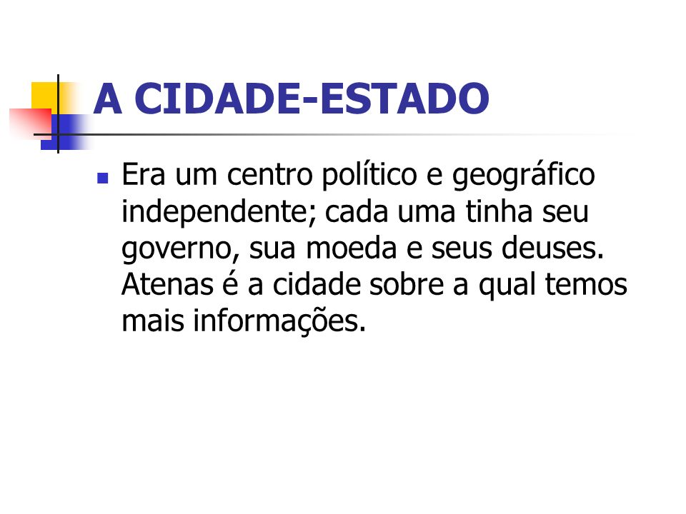 A CIDADE-ESTADO