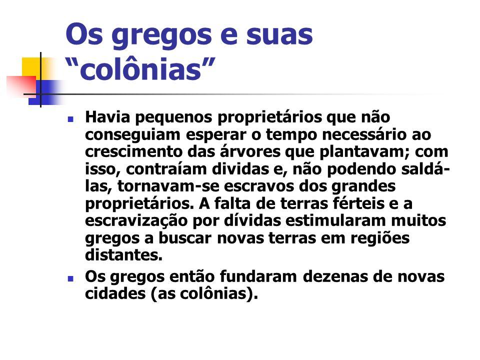 Os gregos e suas colônias