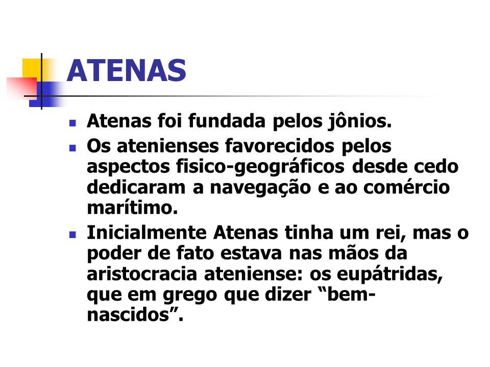 ATENAS Atenas foi fundada pelos jônios.