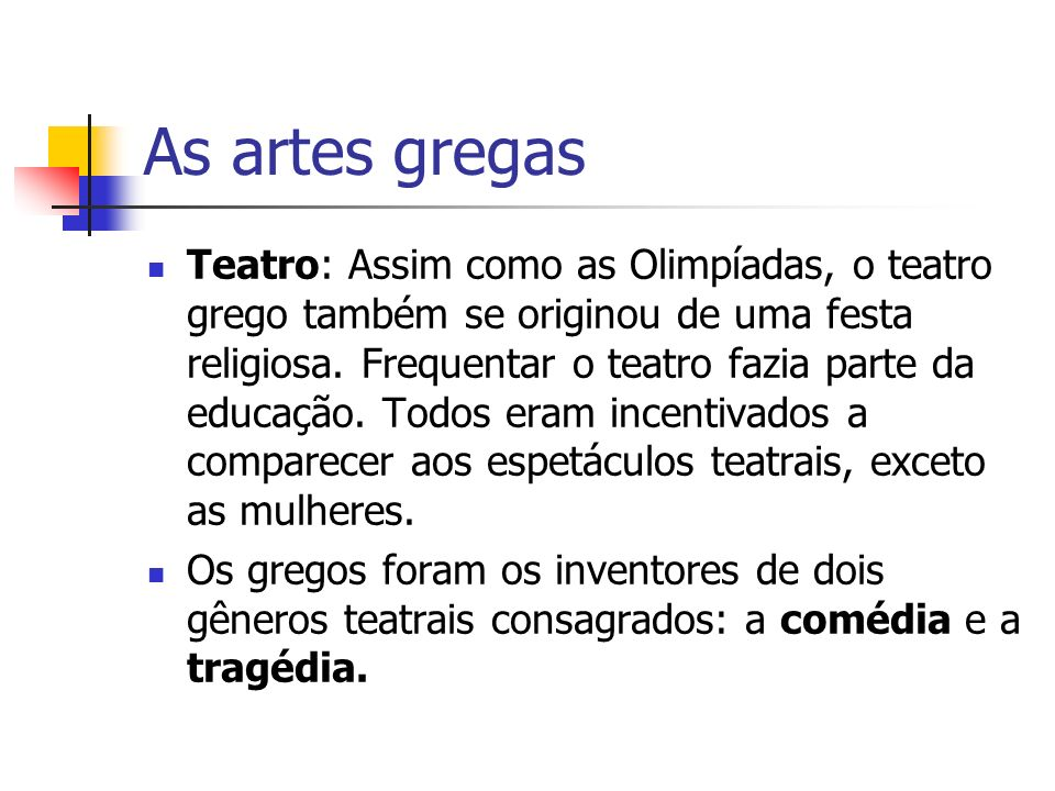 As artes gregas