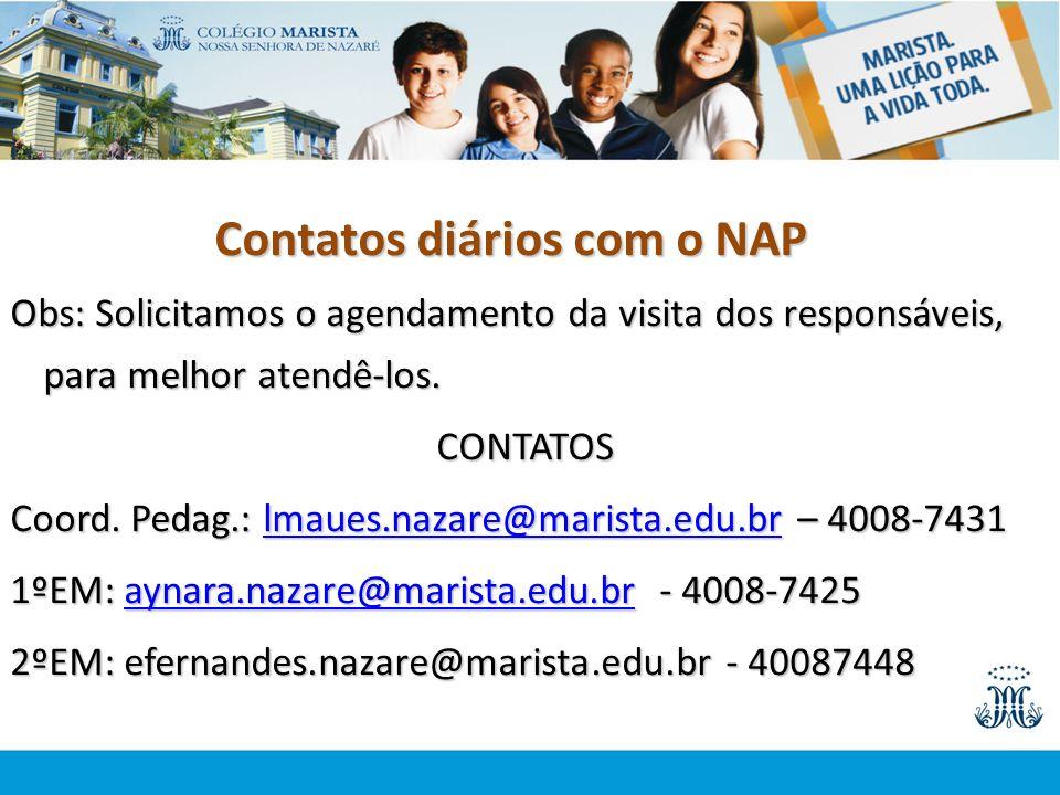 Contatos diários com o NAP