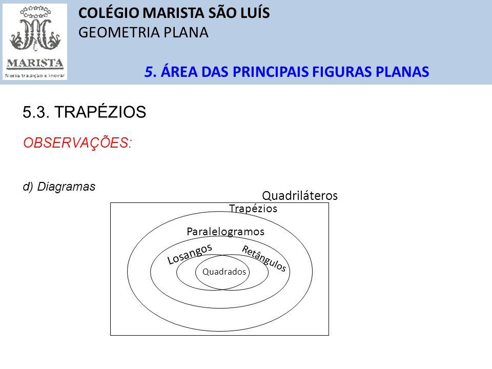 COLÉGIO MARISTA SÃO LUÍS GEOMETRIA PLANA