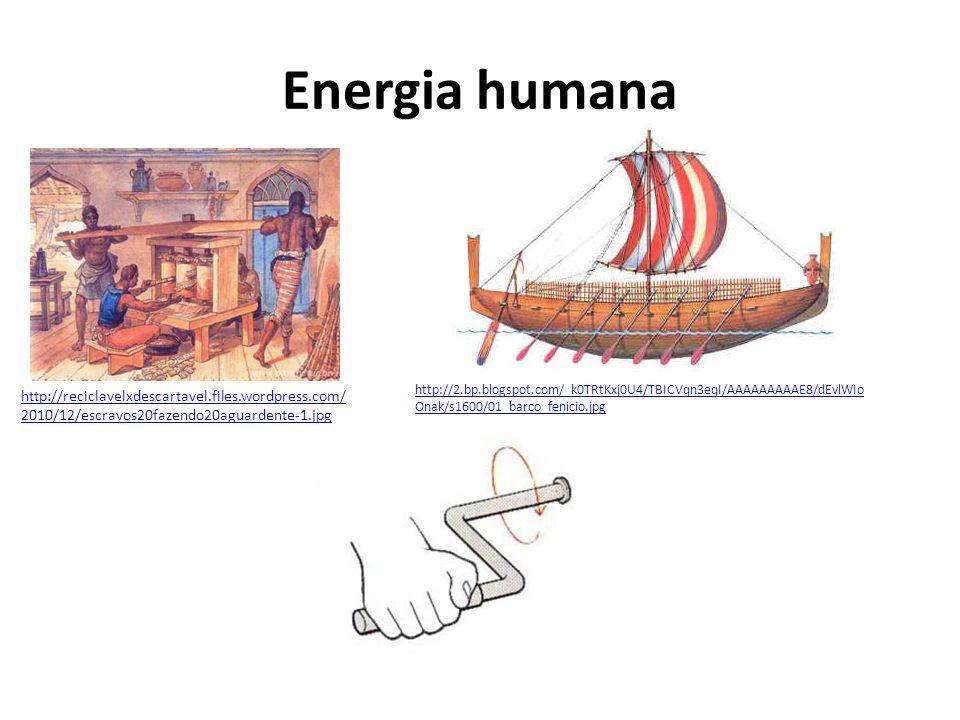 Energia humana http://reciclavelxdescartavel.files.wordpress.com/2010/12/escravos20fazendo20aguardente-1.jpg.
