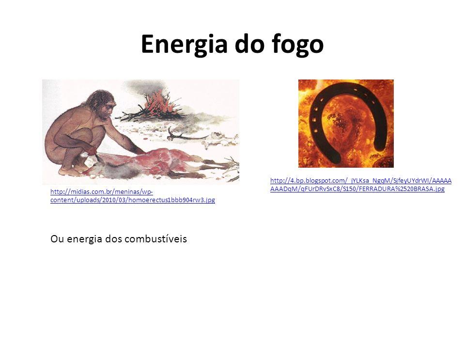 Energia do fogo Ou energia dos combustíveis