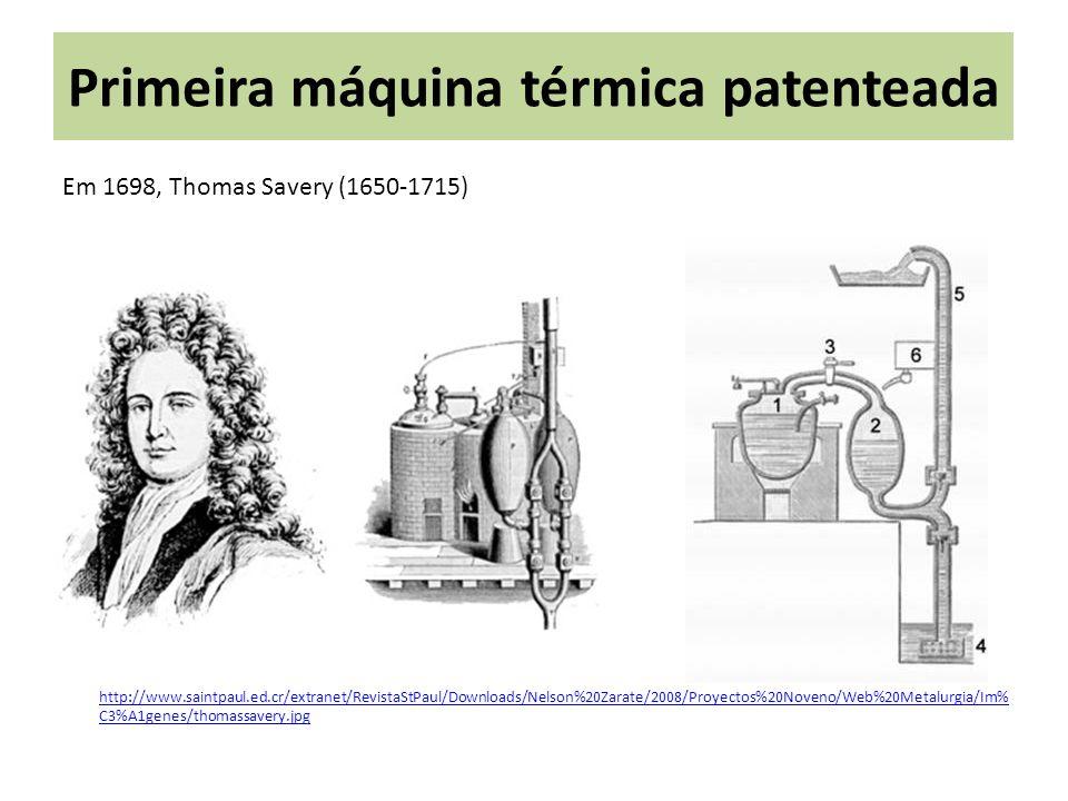 Primeira máquina térmica patenteada