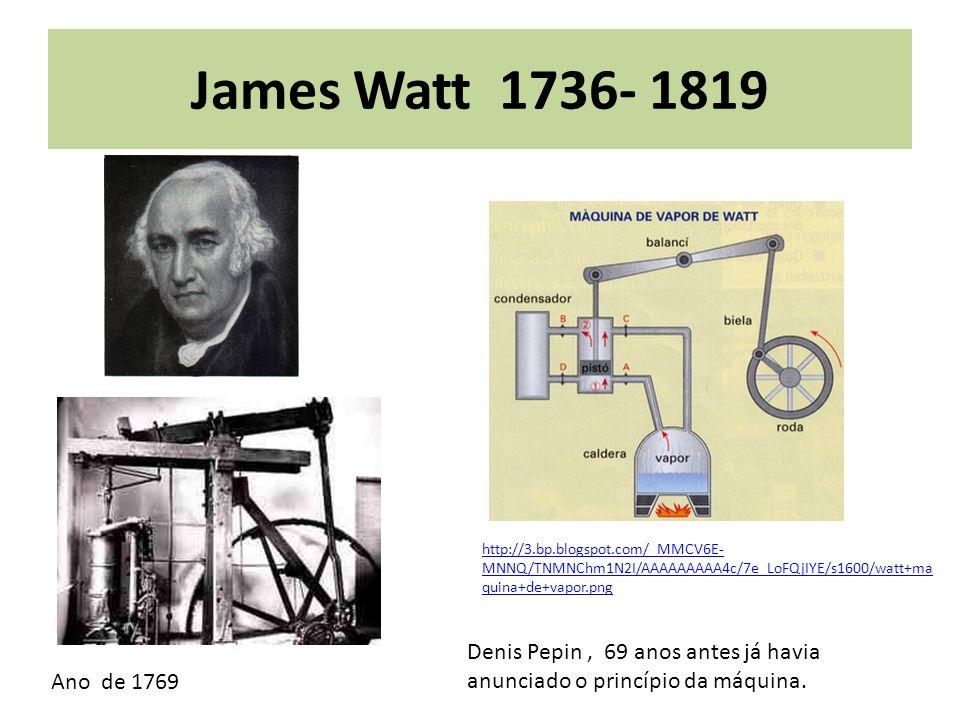 James Watt 1736- 1819 http://3.bp.blogspot.com/_MMCV6E-MNNQ/TNMNChm1N2I/AAAAAAAAA4c/7e_LoFQjIYE/s1600/watt+maquina+de+vapor.png.