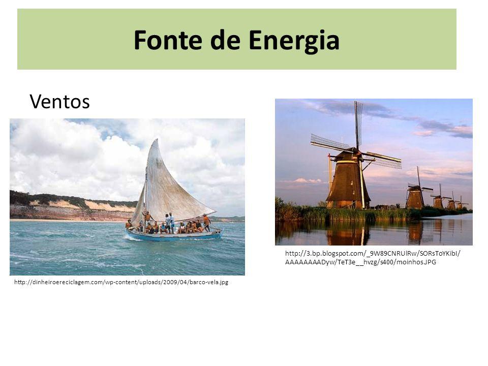 Fonte de Energia Ventos