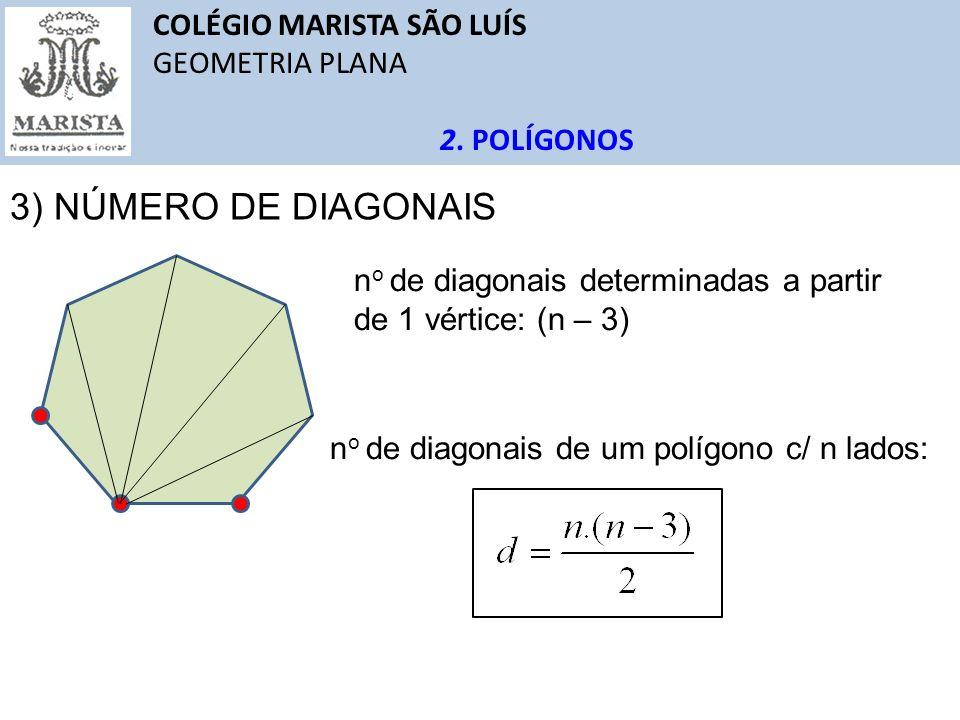 3) NÚMERO DE DIAGONAIS COLÉGIO MARISTA SÃO LUÍS GEOMETRIA PLANA