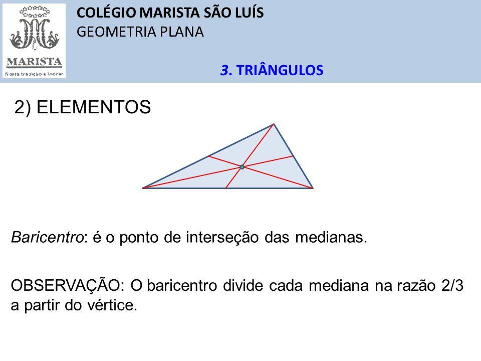 2) ELEMENTOS COLÉGIO MARISTA SÃO LUÍS GEOMETRIA PLANA 3. TRIÂNGULOS