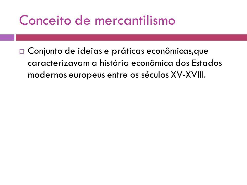 Conceito de mercantilismo
