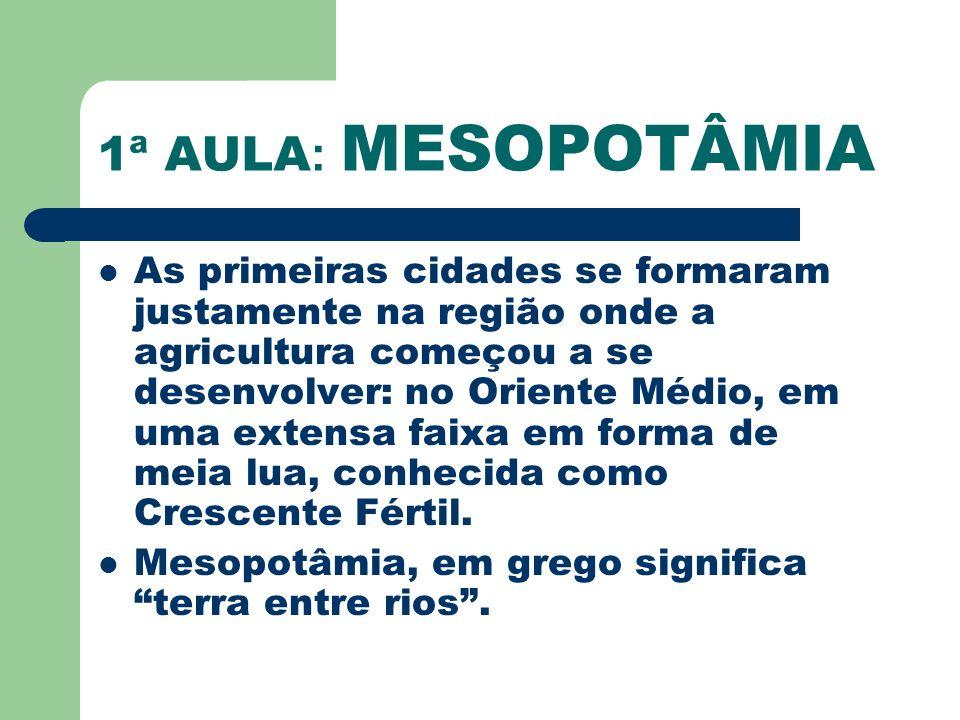 1ª AULA: MESOPOTÂMIA