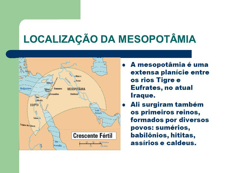 LOCALIZAÇÃO DA MESOPOTÂMIA