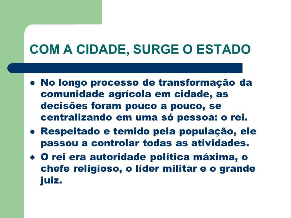 COM A CIDADE, SURGE O ESTADO