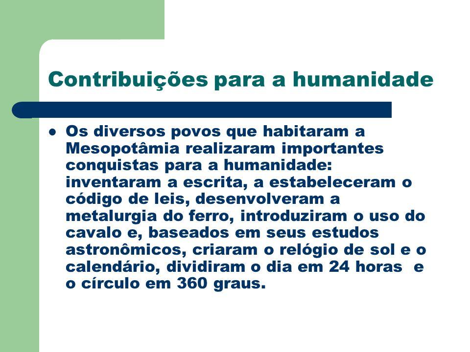 Contribuições para a humanidade