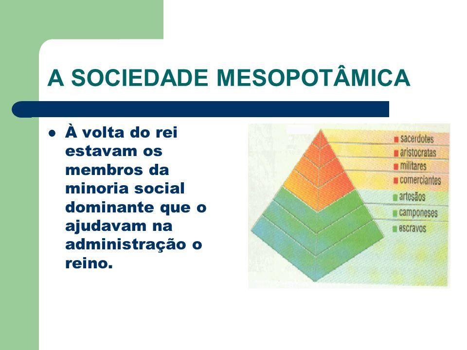 A SOCIEDADE MESOPOTÂMICA